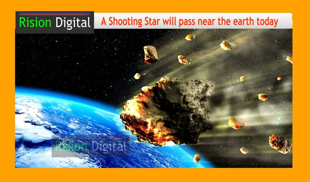 A shooting star will pass through the earth
