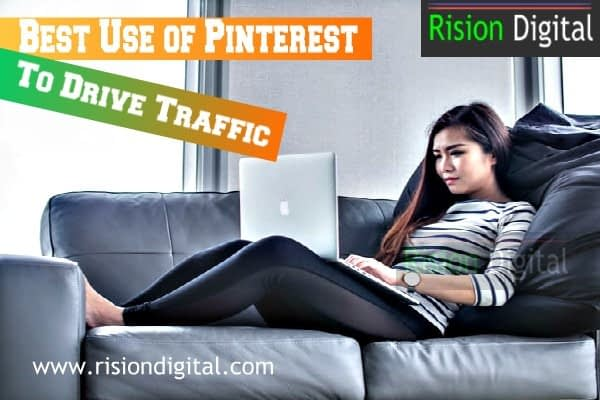 Pinterest use to drive traffic